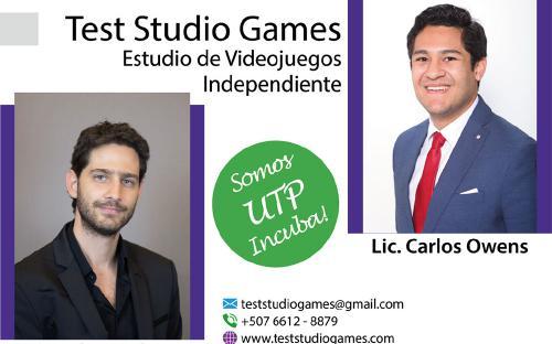 Test Studio Games - Ingeniero Carlos Carbone y Licenciado Carlos Owens creadores de Test Studio Games, Estudio de videojuegos independiente.